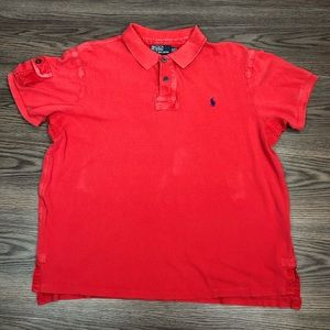 Polo Ralph Lauren Red Distressed Polo Shirt XXL